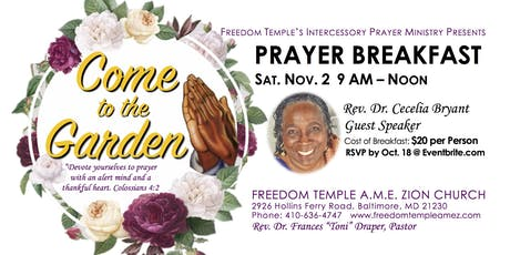 Come To The Garden Prayer Breakfast tickets