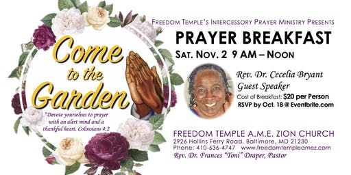 Come To The Garden Prayer Breakfast