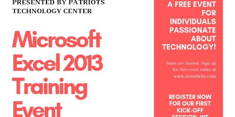Free Microsoft Excel 2013 Training Event tickets
