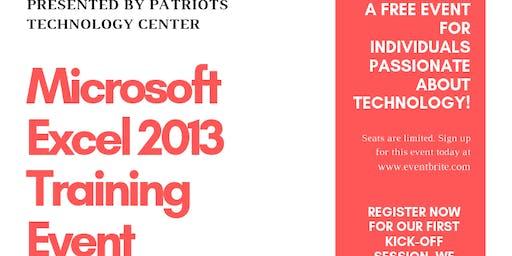 Free Microsoft Excel 2013 Training Event