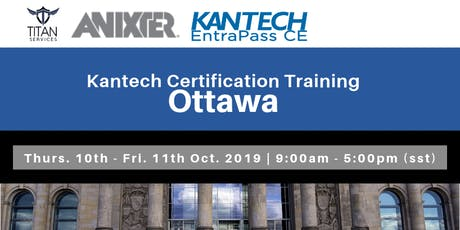 Ottawa Kantech CE Certification - Anixter tickets