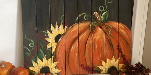 Pumpkin Pallet Painting at The Twisted Birch Sports Bar & Grill