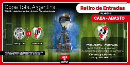 PLATEA RIVER PLATE - GODOY CRUZ vs RIVER PLATE - RETIRA ABASTO SHOPPING