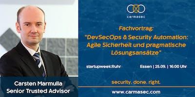 """Fachvortrag: """"DevSecOps & Security Automation: Agile Sicherheit und pragmatische Lösungsansätze"""""""