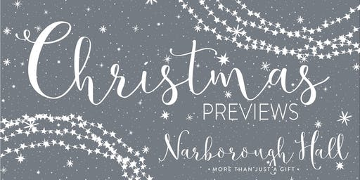 Christmas Preview Evenings at Narborough Hall 2019