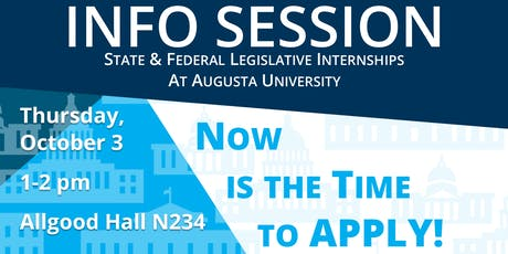 Info Session: Legislative Internships tickets