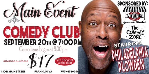 Main Event Comedy Club--Sept 20th