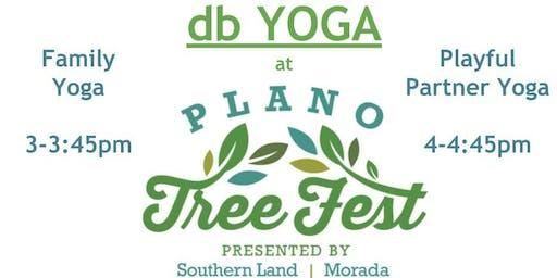 db Yoga at Plano Tree Fest