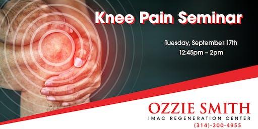 Ozzie Smith Center KNEE Pain Seminar - 9/17