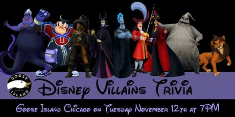 Disney Villains Trivia at Goose Island Chicago tickets