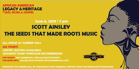 Scott Ainsley The Seeds That Made Roots Music tickets