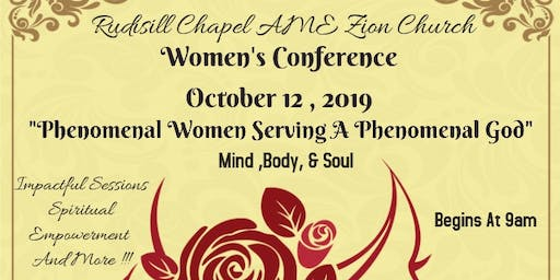 "2019 Women's Confernce : ""Phenomenal Women Serving A Phenomenal God"""