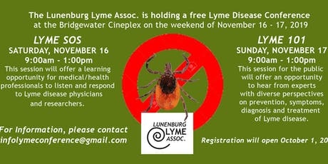 Bridgewater Lyme Conference 2019 - Lyme SOS for  Health Care Professionals tickets