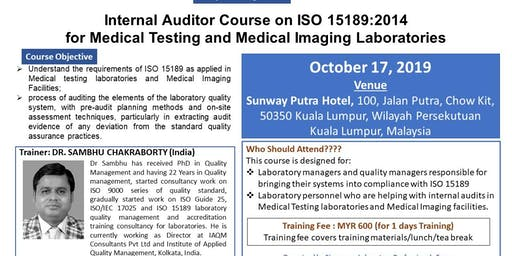 Internal Auditor Course on ISO 15189:2012 for medical testing/imaging