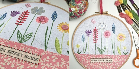 Home Sweet Home - Embroidery Hoop Design with Caroline Madaher tickets