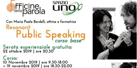 Resonant Public Speaking: serata esperienziale gratuita + corso biglietti