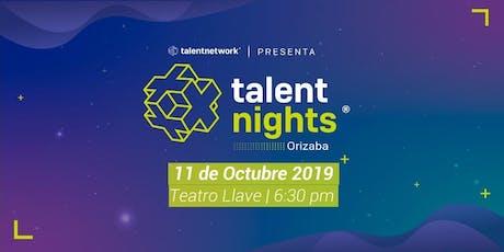 Talent Night Orizaba Septiembre 2019 entradas