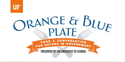 Orange and Blue Plate Luncheon