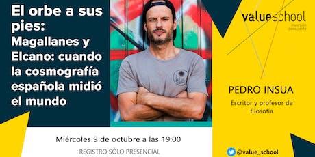 Presentación de El orbe a sus pies: Magallanes y Elcano, de Pedro Insua.  entradas