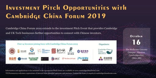 Cambridge China Forum2019: Pitch Event with Chinese Investors