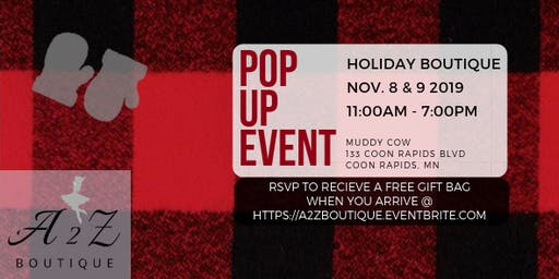 A2Z Pop Up Boutique Event