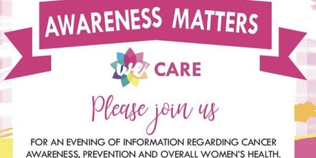 """Awareness Matters, """"WE Care"""" tickets"""