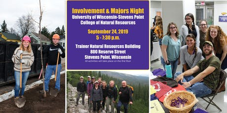 UW-Stevens Point College of Natural Resources Involvement & Majors Night tickets