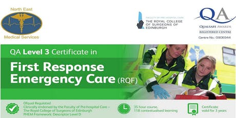 Level 3 Certificate in First Response Emergency Care (FREC3) tickets