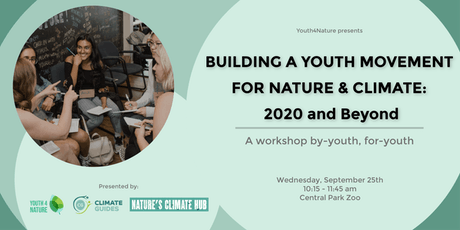 Building a Youth Movement for Nature and Climate: 2020 and Beyond tickets