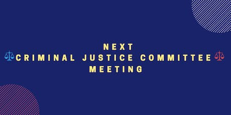 September 2019 Criminal Justice Committee Meeting tickets