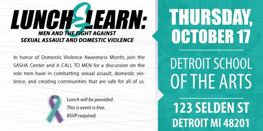 Lunch & Learn: Men & the Fight Against Sexual Assault & Domestic Violence