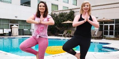 Poolside Yoga with Core Power Yoga