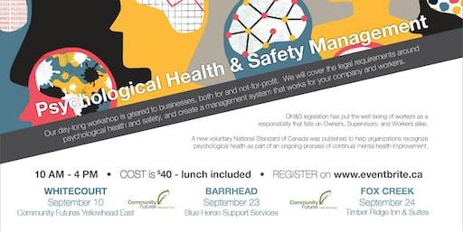 Psychological Health & Safety Management Workshop - Barrhead