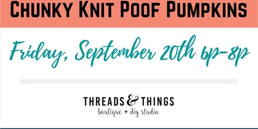 Chunky Knit Poof Pumpkins