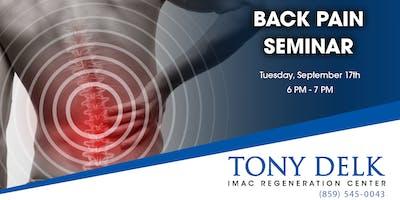 Tony Delk Center Back Pain Seminar - 9/17