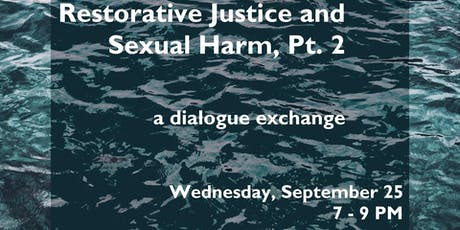 Restorative Justice and Sexual Harm, Pt. 2 tickets