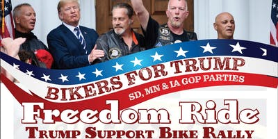 Freedom Ride Supporting President Trump