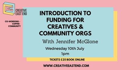 Introduction to Funding for Creatives & Community Organisations Workshop  tickets