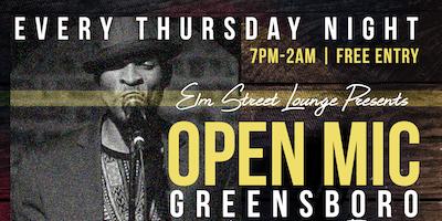 Open Mic Greensboro @ElmStreetLounge   Live Band  DJ    Free Entry