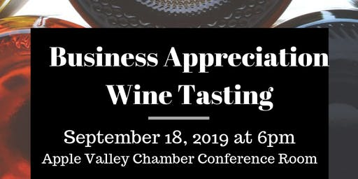 Business Appreciation Wine Tasting