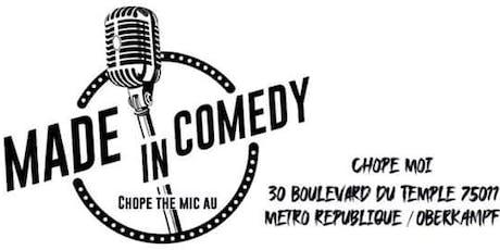 Made in Comedy - Nouveau plateau pour un nouveau bar billets