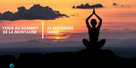Yoga au sommet de la montagne billets