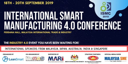 International Smart Manufacturing 4.0 Conference 2019
