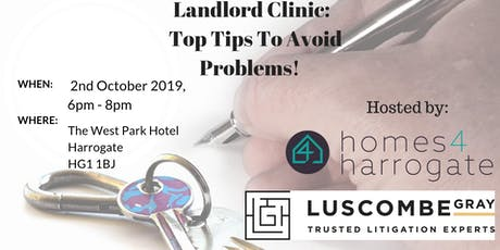 Landlord Clinic - Top Tips To Avoid Problems tickets