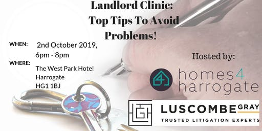 Landlord Clinic - Top Tips To Avoid Problems