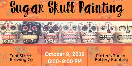 Sugar Skull Painting at Zuni Street Brewing Company tickets