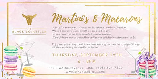 Macarons & Martinis Fall Fashion Party