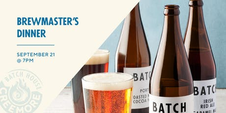 Brewmaster Dinner with CREEMORE BATCH HOUSE tickets