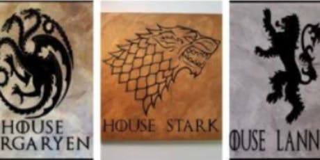 Sign Making Art Class Game of Thrones tickets