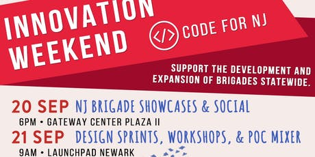 2019 #CodeforNJ Innovation Weekend tickets